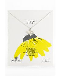 Dogeared | Metallic 'Busy Bee' Pendant Necklace | Lyst