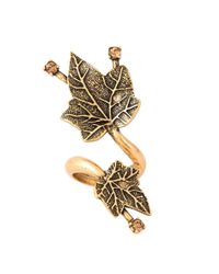 Oscar de la Renta | Metallic Ivy Leaves Ring | Lyst