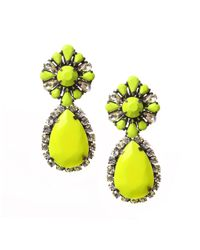 Shourouk | Yellow Roma Earrings | Lyst