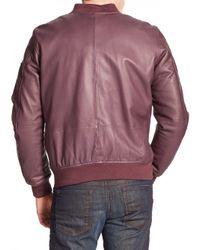 DIESEL - Purple Shadow Leather Jacket for Men - Lyst