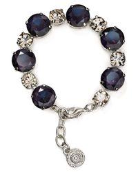 Aqua | Metallic Clara Round Stone Bracelet | Lyst