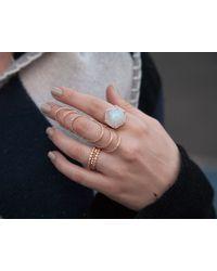 Anne Sisteron | Pink 14kt Rose Gold Bezel Set Diamond Ring | Lyst