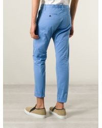 DSquared² - Blue Chino Trousers for Men - Lyst