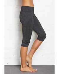 Forever 21 - Gray Active Ruched Athletic Capris - Lyst