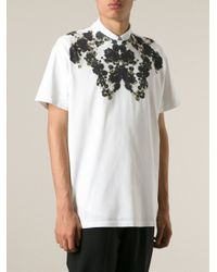 Givenchy - White Floral Boxy T-Shirt for Men - Lyst