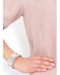 Alice Menter | Metallic Isla Silver Plated Bracelet | Lyst