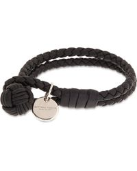 Bottega Veneta | Black Double Woven Leather Bracelet - For Women | Lyst