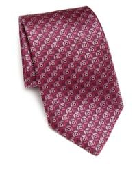 Ferragamo | Purple Gancini Circle Silk Tie for Men | Lyst