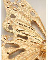 Alexander McQueen - Metallic Butterfly Necklace - Lyst