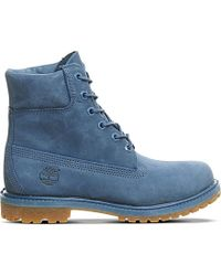 Timberland | Blue Premium 6-inch Leather Boots | Lyst