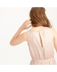 J.Crew - Pink Collection Metallic Clip-dot Dress - Lyst
