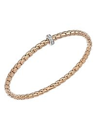 Chimento - 18k White & Rose Gold Stretch Spring Collection Disc Rope Bracelet With Diamonds - Lyst