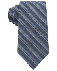 Calvin Klein | Blue Flannel Satin Stripe Slim Tie for Men | Lyst