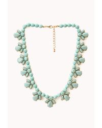 Forever 21 - Metallic Old Charm Faux Stone Necklace - Lyst