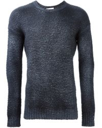Avant Toi - Gray Dyed Distressed Sweater for Men - Lyst