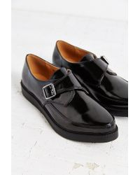 Urban Outfitters - Black Monk Strap Platform Shoe - Lyst