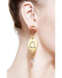 Bochic - Orange Enamel and Diamond Ikon Earrings - Lyst