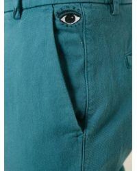 KENZO - Blue 'eye' Straight Leg Trousers for Men - Lyst
