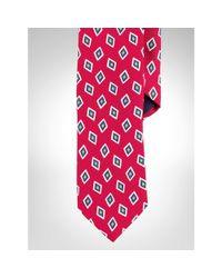 Polo Ralph Lauren - Pink Silk Foulard Narrow Tie for Men - Lyst