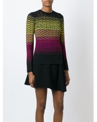 M Missoni | Black Gradient Knit Sweater | Lyst