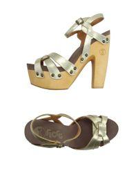 Flogg - Yellow Sandals - Lyst