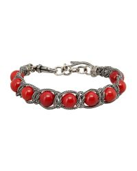 Emanuele Bicocchi - Red Bracelet - Lyst