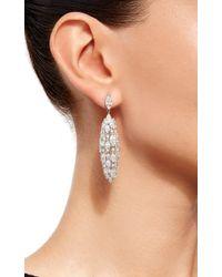 Sidney Garber - Metallic 18k White Gold And Diamond Torchere Earrings - Lyst