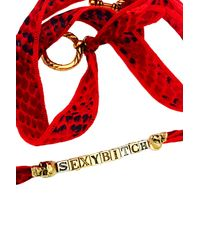 Duchess Of Malfi | Red Sexy Bitch Skull Wrap Bracelet | Lyst
