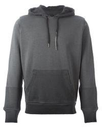 DIESEL | Gray Colour Distressed Hoodie for Men | Lyst