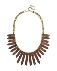 BaubleBar | Metallic 'wood Ra' Bib Necklace - Antique Gold | Lyst