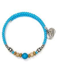 ALEX AND ANI   Blue Vintage 66 Canyon Wrap Bracelet   Lyst