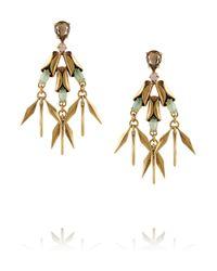 J.Crew | Metallic Crystal Ray Goldplated Crystal Earrings | Lyst