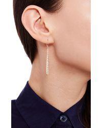 Lizzie Mandler - Metallic Petit Pave Chevron Chandelier Earrings - Lyst