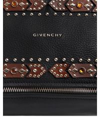 Givenchy - Black Small Pandora Studded Leather Bag - Lyst
