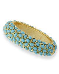 Kenneth Jay Lane   Blue Turquoise Cabochon Bracelet   Lyst