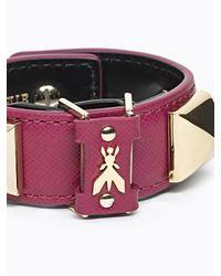 Patrizia Pepe | Purple Costume Jewellery Bracelet In Leather And Studs | Lyst