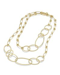 David Yurman   Yellow Mobile Link Necklace In Gold   Lyst