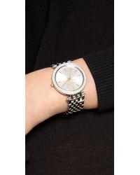 Michael Kors - Metallic Darci Pave Two Tone Watch - Lyst