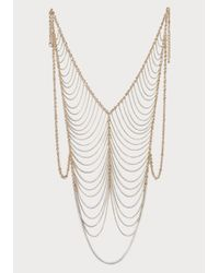 Bebe - Metallic Chain Vest Body Jewelry - Lyst