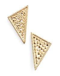 Anna Beck - Metallic Triangle Stud Earrings - Lyst