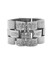 House of Harlow 1960   Metallic Warrior Tiles Link Bracelet   Lyst