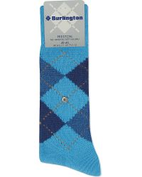 Smythson | Blue Preston Socks, Men's, Turkis for Men | Lyst
