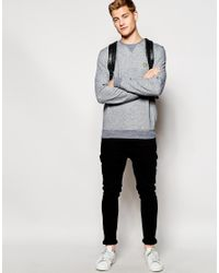 Lyle & Scott - Blue Sweatshirt With Crew Neck In Marl for Men - Lyst