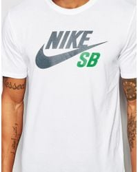 Nike | White T-shirt With Large Logo 749630-100 for Men | Lyst