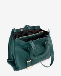 Ted Baker - Green Exotic Leather Tote Bag - Lyst