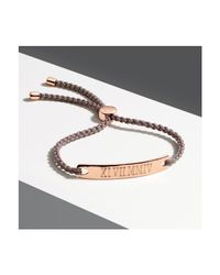 Monica Vinader - Purple Linear 18ct Rose Gold-plated Woven Friendship Bracelet - Lyst