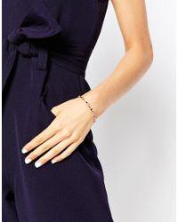 Ted Baker | Metallic Nixi Crystal Stud Ultra Fine Cuff Bracelet | Lyst