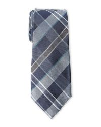 Vince Camuto - Blue Canno Plaid Silk Tie for Men - Lyst
