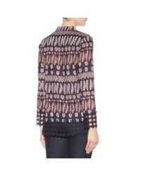 Tory Burch - Multicolor Printed Cotton Tunic - Lyst