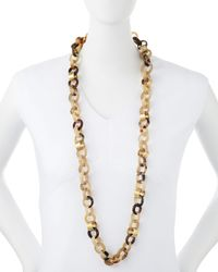 Ashley Pittman | Brown Jinsi Light Horn Long Necklace | Lyst